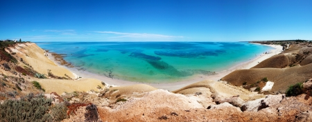 Beautiful panorama of Port Willunga in Adelaide, SA Stock Photo - 9545044