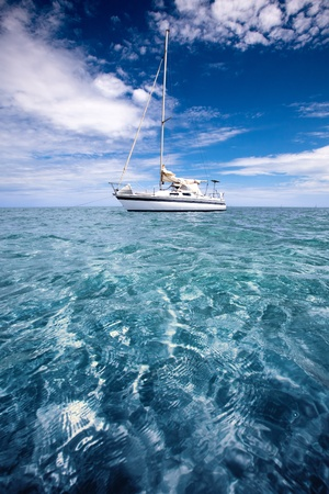 Yacht in beautiful tropical waters Stock Photo - 9545021