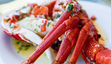 Delicious crayfish served with Garlic Butter marinade