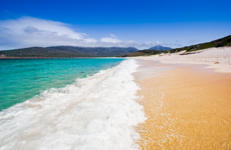 tasmania: Wineglass Bay in Tasmania, Australia