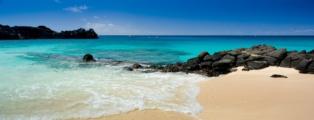 Beautiful tropical beach on an island in the Atlantic Stock Photo - 11313197