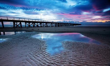 Beautiful pink sunset at the beach Stock Photo - 11313211