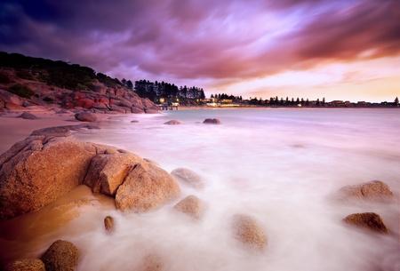아름 다운 호주 해변 일출 스톡 콘텐츠