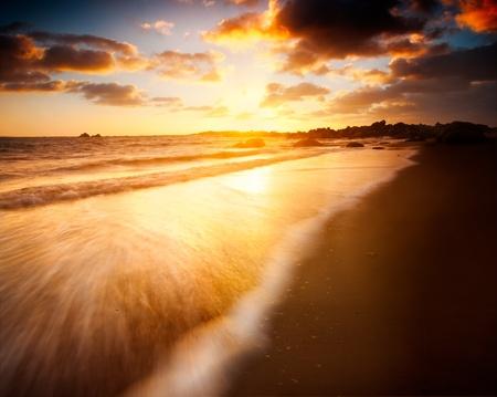 Beautiful Sunrise over an Australian Beach Stock Photo - 12986407