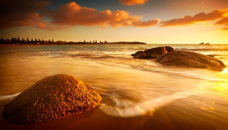 water stone: Gorgeous Sunrise on a South Australian Beach