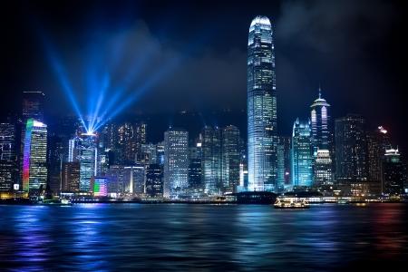 Stunning Light show in Hong Kong Reklamní fotografie