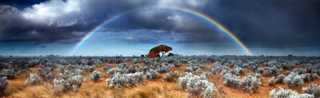 Rainbow in the Australian Desert photo