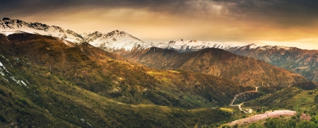 santiago: The Andes Mountains in Chile Stock Photo