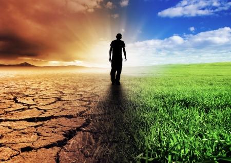 sustentabilidad: A cambio climático concepto de imagen