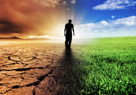 hoopt: Een Climate Change Concept Afbeelding Stockfoto