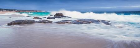 yorke: Waves crashing on an Australian Beach