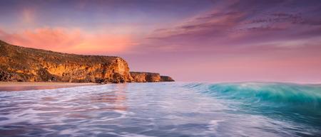 yorke: Beautiful surf beach at sunset