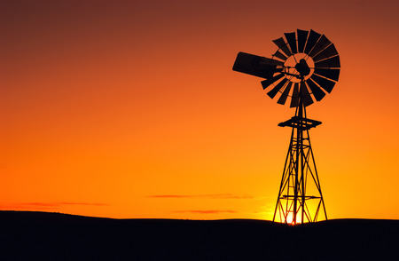Windmill in the Eyre Peninsula, South Australia Stock Photo