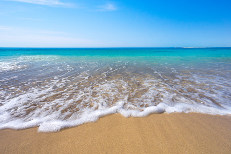 yorke: Stunning beach in the middle of summer Stock Photo