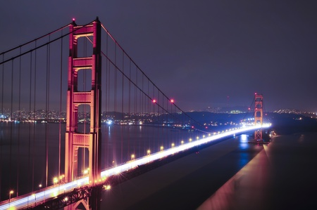 Golden Gate Bridge at night San Francisco California Stock Photo - 8555908