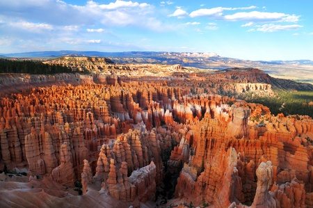 Sunset View from Amphitheater Piont in Bryce Canyon National Park photo