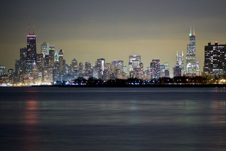 Chicago Skyline along the Lake Michigan Shore