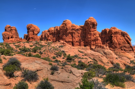 Rock Formations in Arches National Park photo