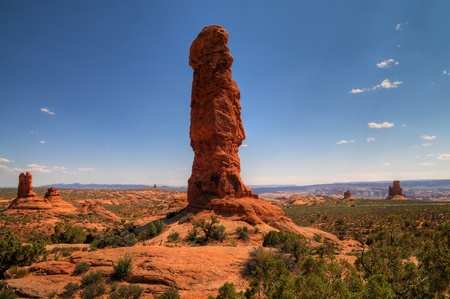 Rock Formations in Arches National Park in Moab Utah photo