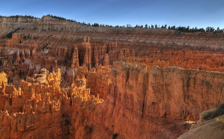 hoodoos: Hoodoos at Sunset - viewed from Amphitheater Point in Bryce Canyon