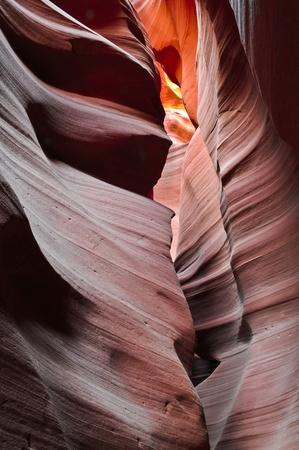 slot canyon: Entrance to Upper Antelope Canyon in Page Arizona