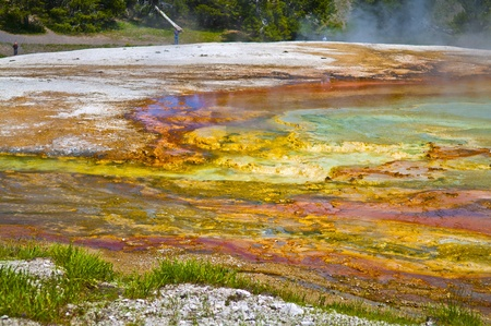 Colorful layers of bacteria in yellowstone geyser Stock Photo - 12827171