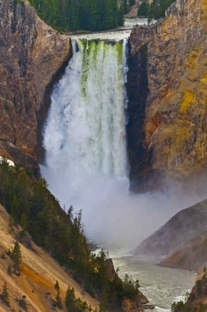 Bajo Yellowstone Falls, Parque Nacional de Yellowstone photo