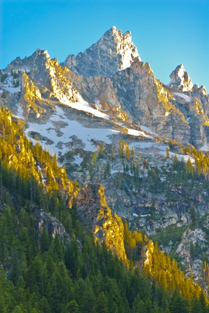 Grand Tetons Peak as seen from the Inspiration Point photo