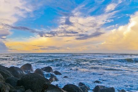 Crashing waves amazing sunset sky at La Push Beach in Olympic National Park  Stock Photo - 13165012