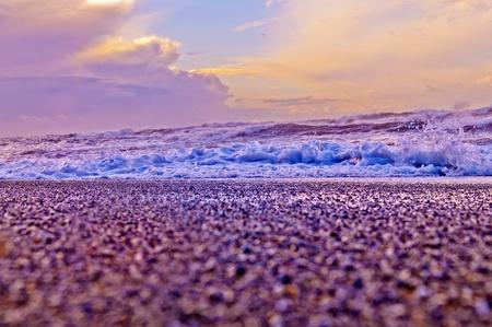 Crashing waves amazing sunset sky at La Push Beach in Olympic National Park Stock Photo - 13165024