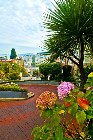 Dec 2 2010 San Francisco California Famous Lombard Street photo