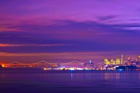 Golden Gate Bridge at night San Francisco California photo