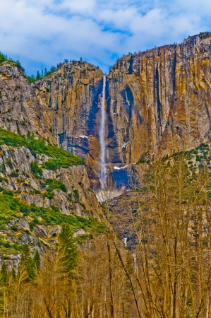 Upper Yosemite Falls in Winter - Yosemite National Park photo