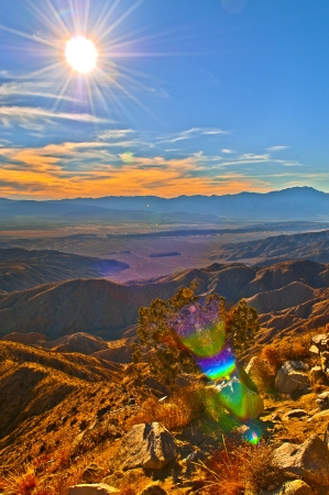view of theCoachella Valley from the popular Keys View in the Little San Bernardino Mountains, Joshua Tree National Park
