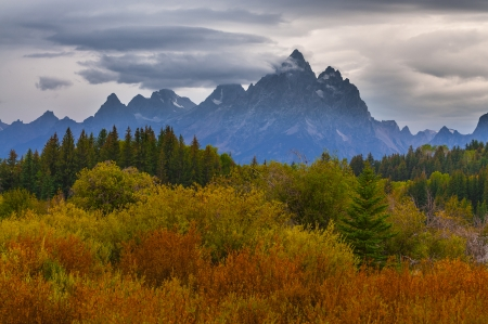 Autumn in Grand Tetons National Park Wyoming photo