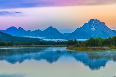 oxbow: Sunrise in Grand Teton National Park - Oxbow Point