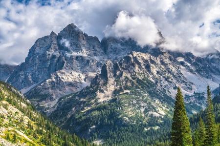 cascade range: Dramatic Sky over Beautiful Cascade Canyon - Grand Tetons Editorial