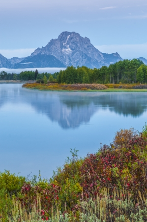 oxbow: Sunrise in Grand Teton National Park - Oxbow Point