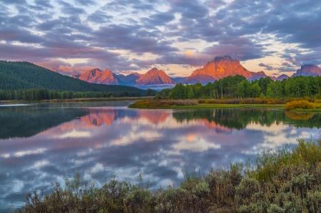 Amazing Sunrise in Grand Teton National Park photo