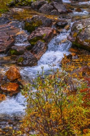 Beautiful Cascade near String Lake in Grand Teton National Park photo