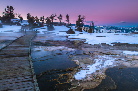 Beautiful Winter Sunset in Yellowstone