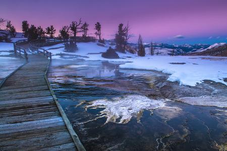 Beautiful Winter Sunset in Yellowstone