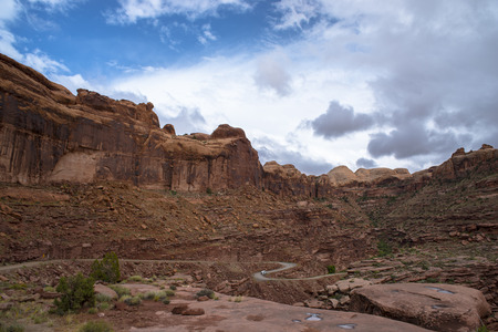 dirtroad: Switchbacks near Hunters Canyon Trail Moab Utah