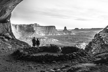 Anasazi Indian Ruins At False Kiva, Canyonlands photo