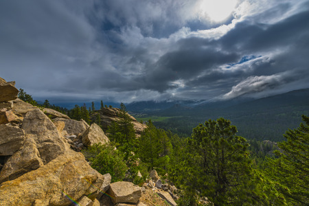 san juans: Mountains Peaks on a beautiful summer day - Rocky Mountains National Park Landscape Stock Photo