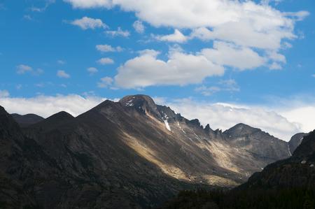 peace risk: Longs Peak from the Bierstadt trail - Rocky Mountain Colorado