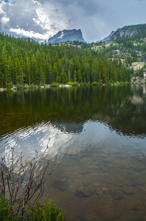 bear lake: Hallett Peak and Flattop Mountain- Bear Lake - Rockies Colorado