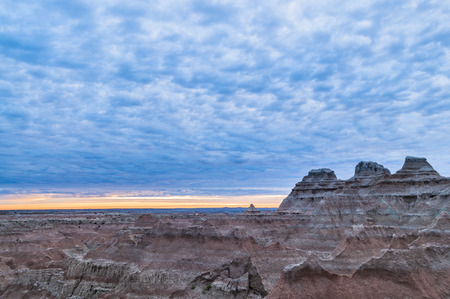 evaporated: Beautiful Sunset in Badlands National Park South Dakota Archivio Fotografico