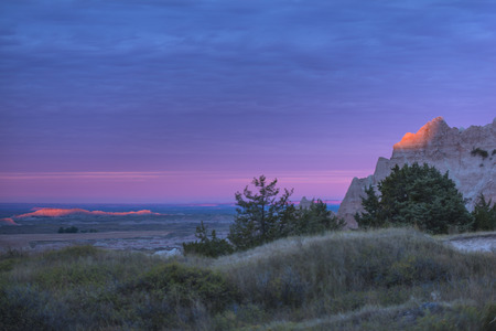 evaporated: Bel tramonto in Badlands National Park South Dakota
