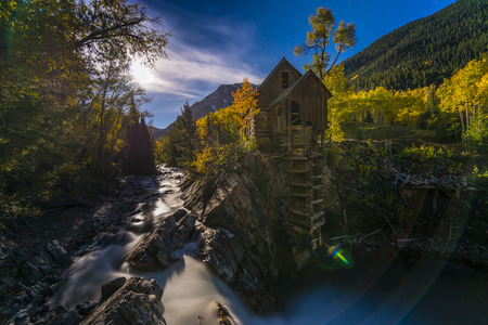 powerhouse: Crystal Mill Wooden Powerhouse located on Crystal River Colorado